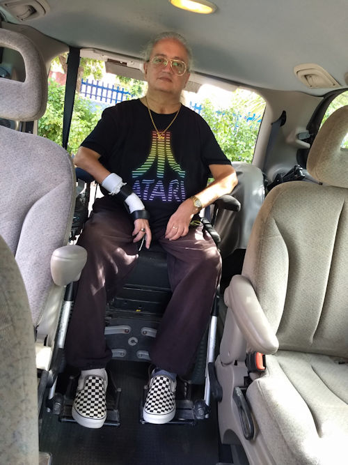Accessible van inside